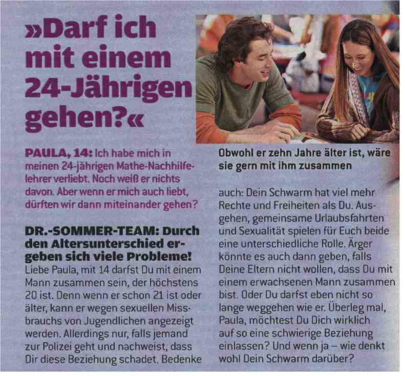geile story dr sommer stellung